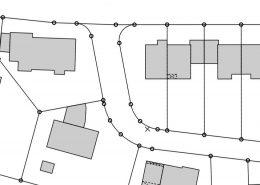 Ausschnitt aus einem Lageplan